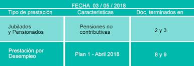 fecha de cobro pension no contributiva mayo 2016 agenda de pagos del día 3 de mayo de 2018 actualidad esquina