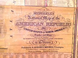 Huge Map Of The United States by Mitchells National Map Of The American Republic Of Or United