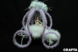 carriage centerpiece decorated quinceanera carriage w bow on top centerpiece