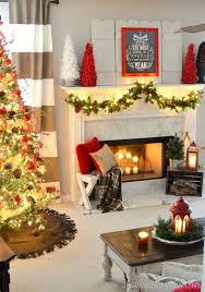 christmas home decorations ideas 50 christmas mantles for some serious decorating inspiration