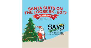 santa suits on the 5k walk jog run