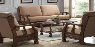 exposed wood frame sofa for living room sofamoe info