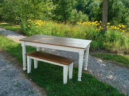 farm table with bench farm table benches kountry kupboards