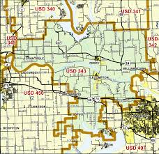 Map Topeka Ks Perry Public Schools Usd343 Usd 343 Boundary Map