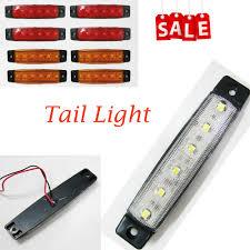 trailer tail lights for sale 6 led orange rectangular side marker indicator rear lights ls