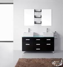 avola 56 inch modern double sink bathroom vanity white stone top