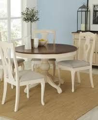 Branchville White Round  Piece Dining Room Furniture Set - Branchville white round dining room furniture