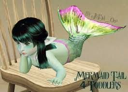 mod the sims mermaid tail for children and toddlers