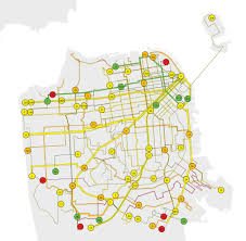 Muni San Francisco Map by Finding The Slow Buses San Francisco Public Press