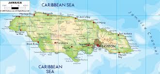 jamaica physical map physical map of jamaica ezilon maps