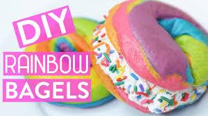 diy rainbow bagels youtube