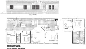 5 Bedroom Manufactured Home Floor Plans 3 Bedroom Floor Plan The Graff B 6698 Hawks Homes