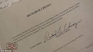 cheney had a signed letter of resignation throughout his time