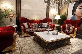 Furniture Sofa Set Ekar Furniture Rococo Style Red Sofa Set Sofas Furniture
