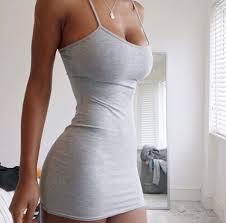 tight dress dress cotton dress grey dress bodycon dress tight