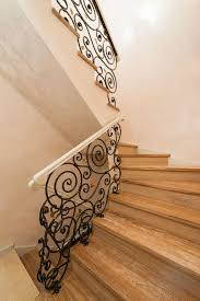 Banisters And Handrails 35 Wrought Iron Stair Railing Ideas Photo Gallery