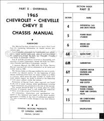 1965 chevy repair shop manual original canadian impala caprice