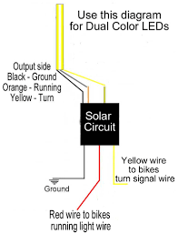 solar circuits motorcycle led turn signal wiring harness circuits