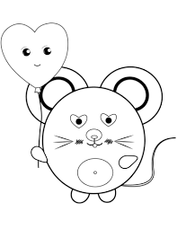 kawaii mouse coloring free printable coloring pages