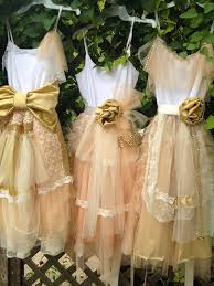 Shabby Chic Boutiques by Bridesmaid Peach And Gold Shabby Chic Gown Boho Dress Mix And