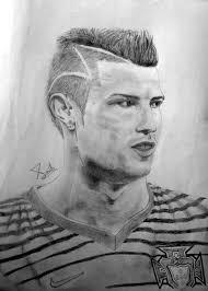 cristiano ronaldo sketch by saibirfan on deviantart