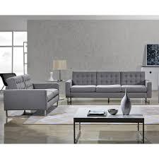 angela grey fabric modern sofa and loveseat set free shipping