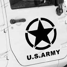 jeep army decals 50cm high us army star usmc ww2 vinyl car decal bumper sticker fit