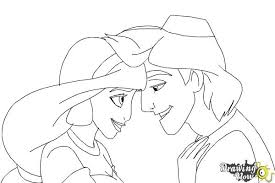 draw jasmine aladdin drawingnow