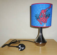 Childrens Bedroom Lampshades Spiderman Bedside Lamp Boys Bedroom Light Lamp Shade Blue