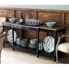upton weathered oak top console table black oka