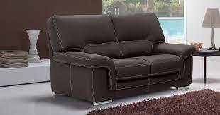 canapé 2places aoste cuir 1 5mm ou 2mm personnalisable sur univers du cuir