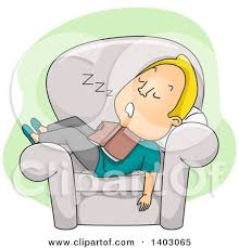 Sleeping In A Chair Royalty Free Rf Dozing Clipart Illustrations Vector Graphics 1