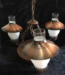Ebay Ceiling Light Fixtures by Vintage Wood Wagon Wheel Hanging Ceiling Lamp 3 Light Fixture