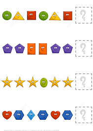 complete the pattern worksheet with basic geometric shapes free