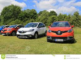 new renault captur new renault captur and scenic xmod cars on display editorial image