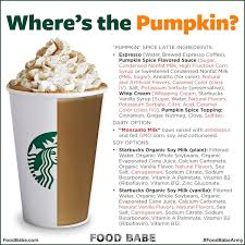 what s really in your starbucks pumpkin spice latte might surprise you