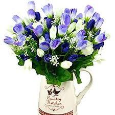 silk flowers polytree 1 bouquet 15 heads artificial tulip flowers