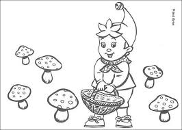 noddy picks mushrooms coloring pages hellokids com