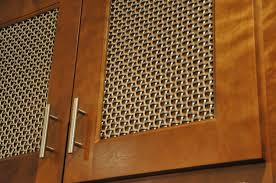 decorative metal cabinet door inserts hickorywood residence remodel banker wire project