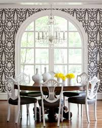 fabulous archaic dining room concept with black and white dining