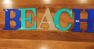 sale beach letters beach home decor decorative letters