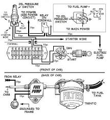 wiring an electric fuel pump diagram buggy pinterest