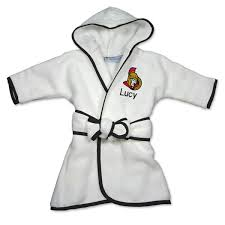 infant ottawa senators white personalized robe shop nhl
