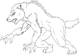 Creepy Halloween Coloring Pages by Werewolf Coloring Pages Getcoloringpages Com