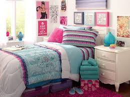 bedroom awesome teenage room designs with white fabric bedding