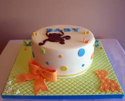 monkey and giraffe baby shower cake 8