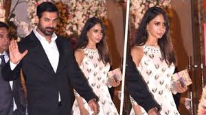 john abraham with his beautiful wife priya runchal at ambani u0027s