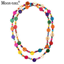 wood beads necklace designs images Moon girl design bohemia wood beads chains long necklace fashion jpg