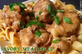turkey meatballs in creamy mushroom easy swedish meatball sauce cream of mushroom soup