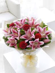 bouquet of lilies pink